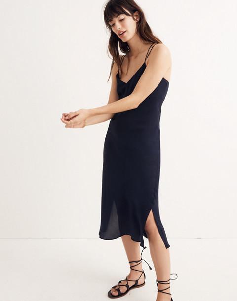 Silk Slip Dress in night vision image 1