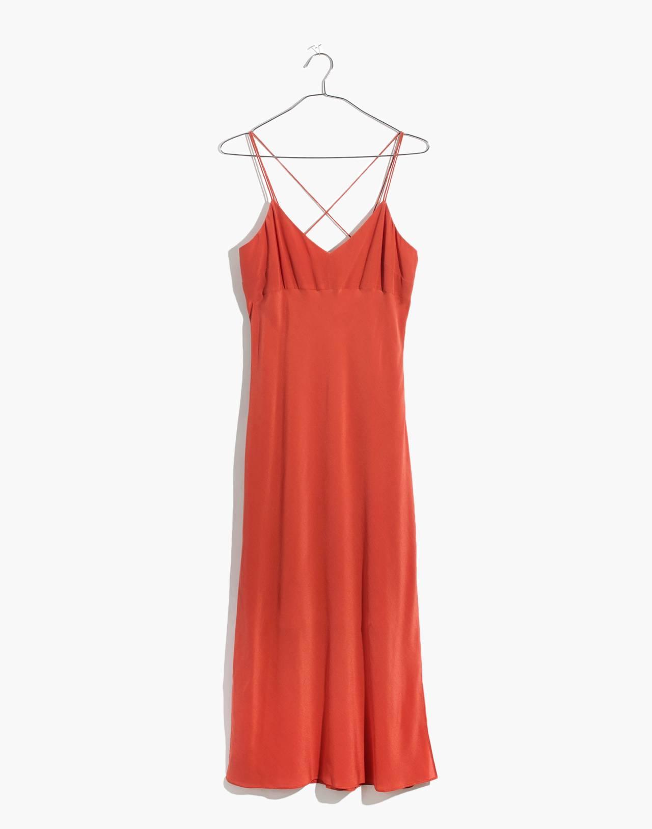 Silk Slip Dress in spiced rose image 4