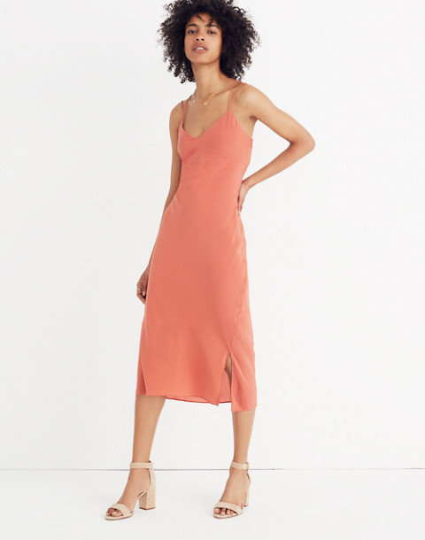 Silk Slip Dress in spiced rose image 1