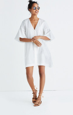 Bell-Sleeve Shirtdress