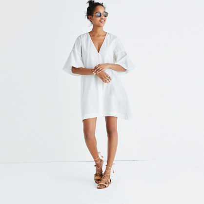 Bell-Sleeve Shirtdress