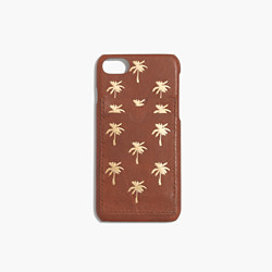 Leather Carryall Case for iPhone® 6/7: Palm Tree Edition