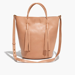 The Austin Tassel Bucket Tote Bag