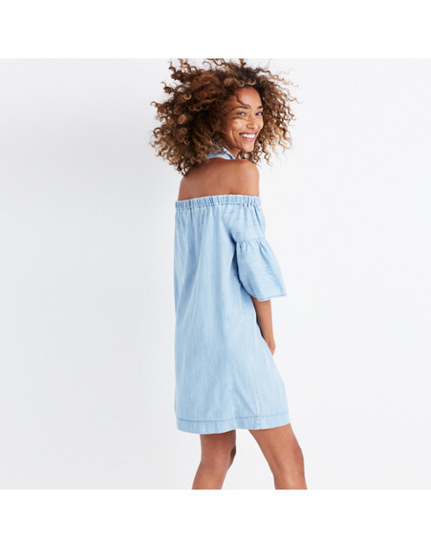 Denim Azalea Off-the-Shoulder Dress