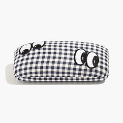 Embroidered Sunglass Case in Gingham