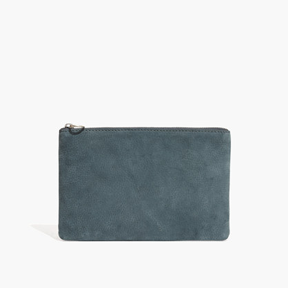 The Leather Pouch Clutch in Midnight Spruce