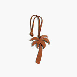 Leather Palm Tree Bag Tag