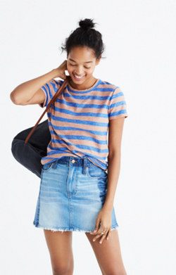 Hi-Fi Shrunken Tee in Loretta Stripe