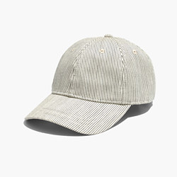 Baseball Cap in Railroad Stripe