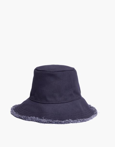 Canvas Bucket Hat in deep indigo image 1
