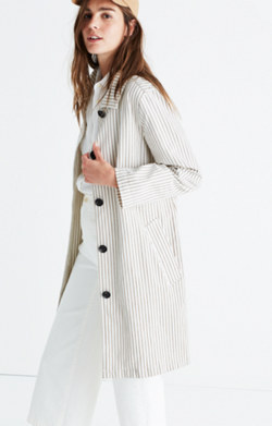 Striped Outpost Trench Coat