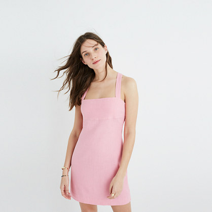 Rose Cross-Back Mini Dress
