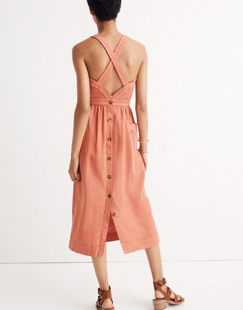 Garment-Dyed Apron Maxi Dress