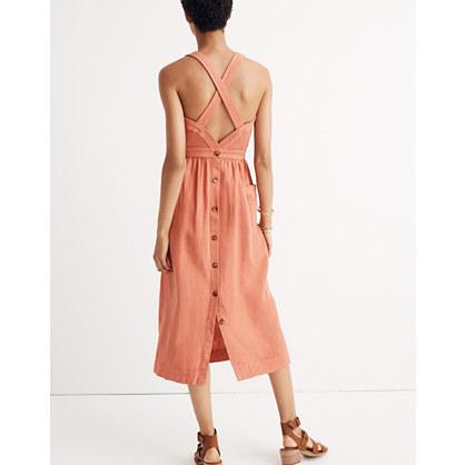 Garment-Dyed Apron Maxi Dress