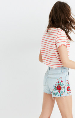 The Perfect Jean Short: Embroidered Edition