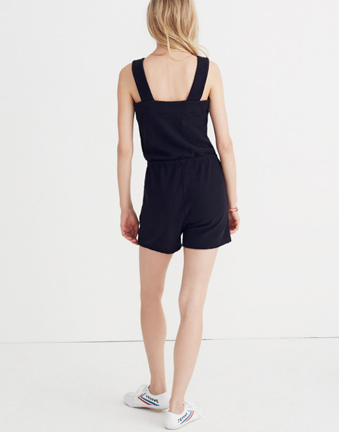 Side-Button Drawstring Romper