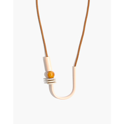 Madewell x Maslo™ Chock a Block Necklace in Peach