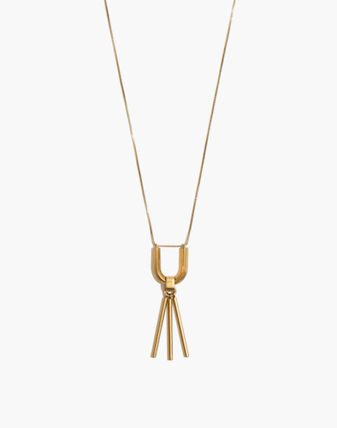 Curvelink Pendant Necklace in gold ox image 1