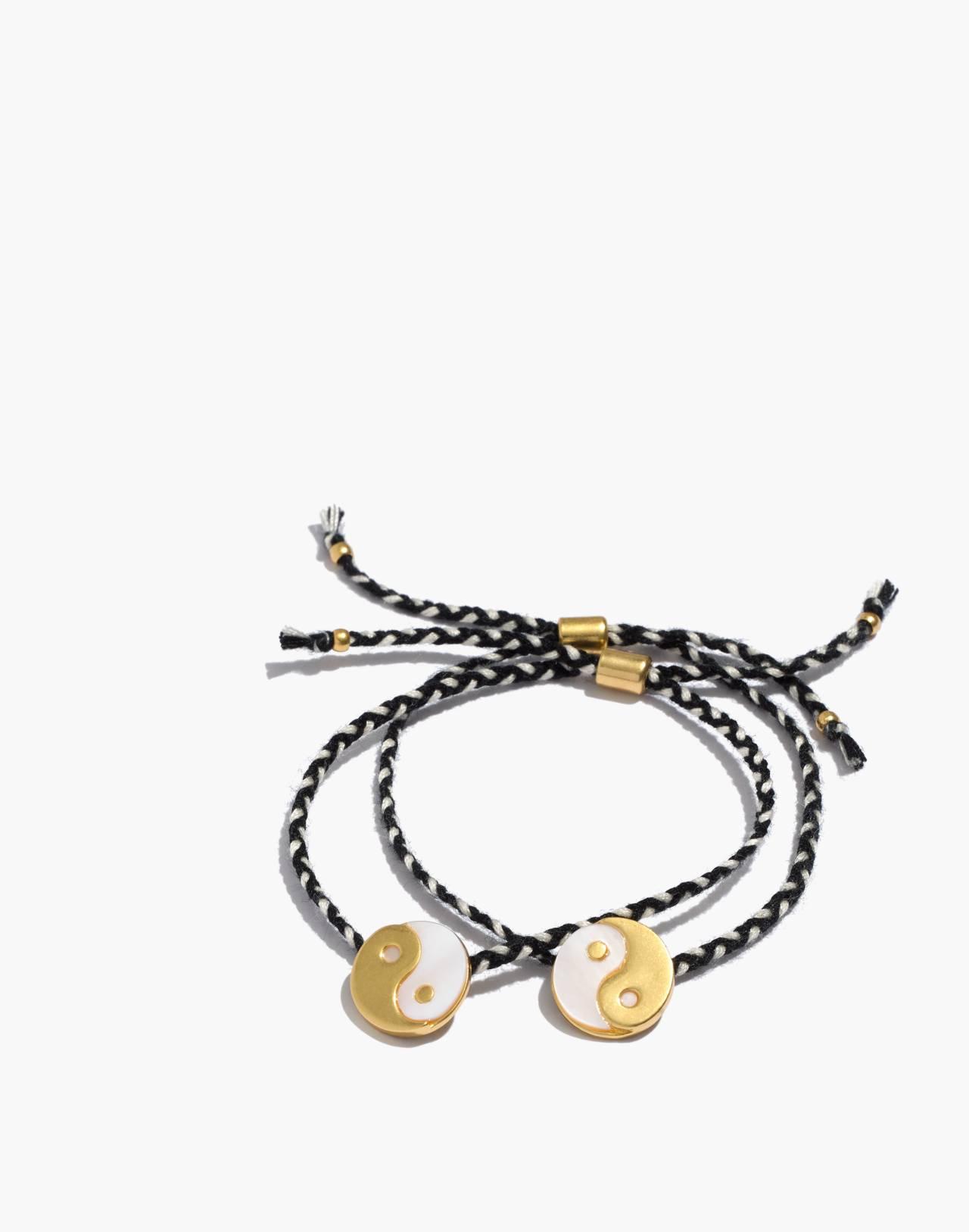 Two-Pack Friendship Bracelets in true black image 1