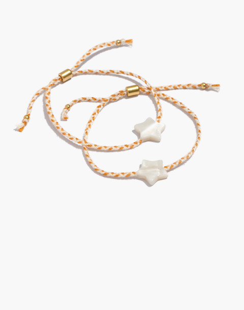 Two-Pack Friendship Bracelets in tungsten glow image 1