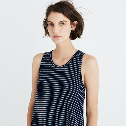 Highpoint Tank Dress in Chevron Stripe