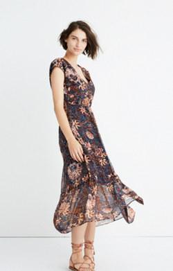 Dawnlight Maxi Dress in Sea Floral
