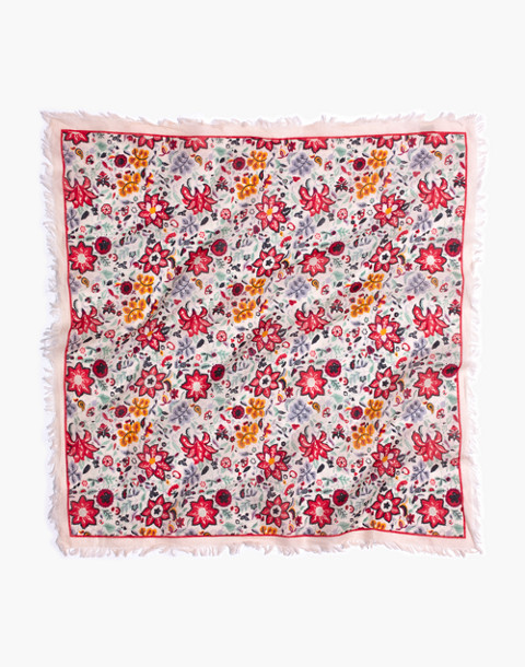 Fringe Bandana in antique coral multi image 2