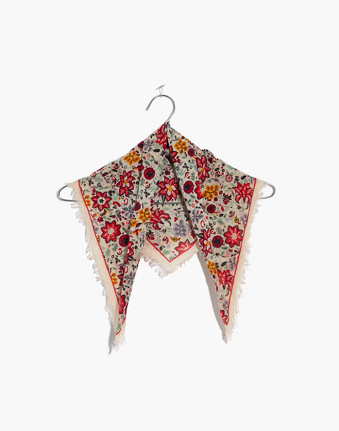 Fringe Bandana in antique coral multi image 1