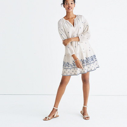 Jacquard Long-Sleeve Tunic Dress