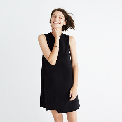 Mockneck Swingy Tank Dress