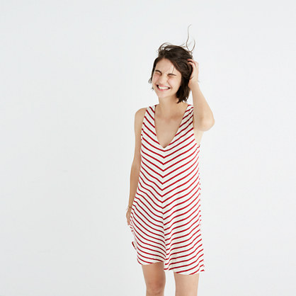 Mitered Stripe Tank Dress