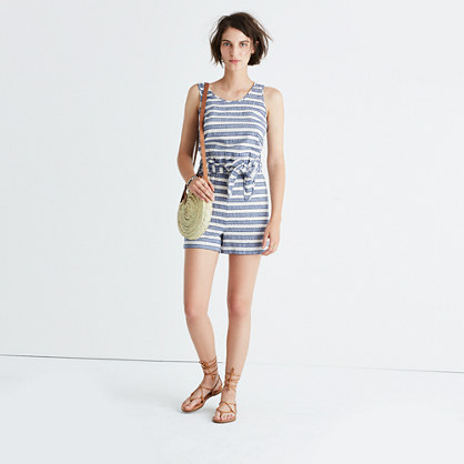 Striped Cover-Up Romper