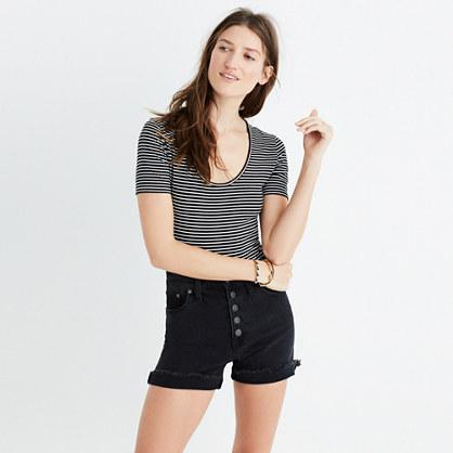 Cameo Scoop Bodysuit in Natasha Stripe