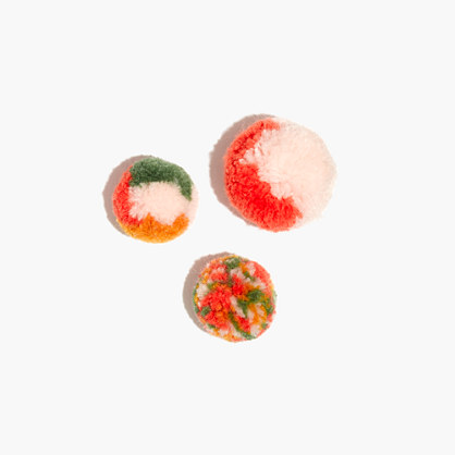 Plush Pom-Pom Pin Set
