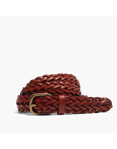 Leather Multi-Strand Braided Belt