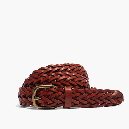 Leather Multi-Strand Braided Belt