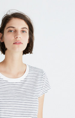 Rivet & Thread Wide-Crewneck Tee in Ditmas Stripe