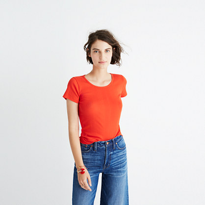 Slim Ribbed Tee