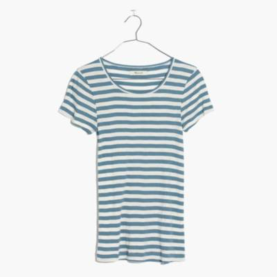 Slim Ribbed Tee in Sandoval Stripe