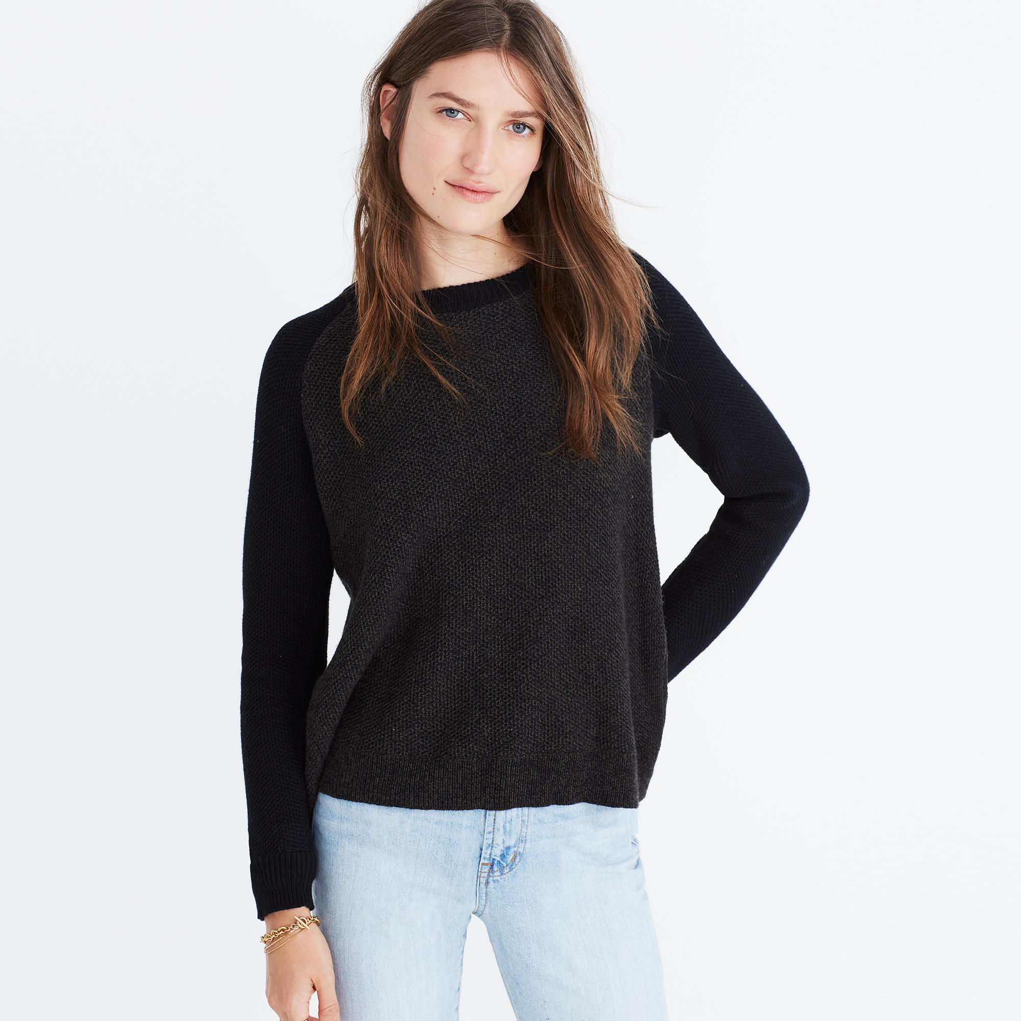Province Cross-Back Pullover Sweater in Colorblock : shopmadewell ...