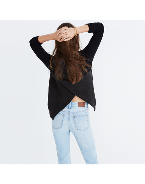 Province Cross-Back Pullover Sweater in Colorblock