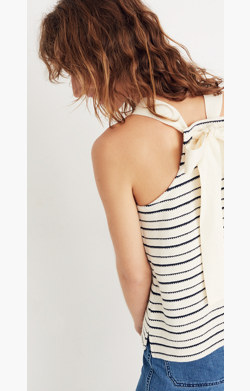 Striped Bow-Back Tank Top