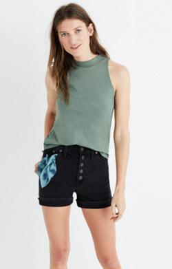 Mockneck Shirttail Tank Top