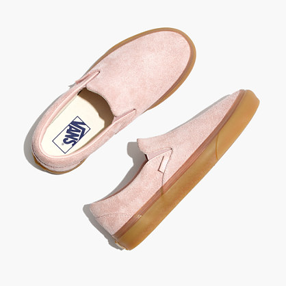 Vans® Unisex Classic Slip-On Sneakers in Rose Suede