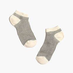 Vertical Stripe Anklet Socks