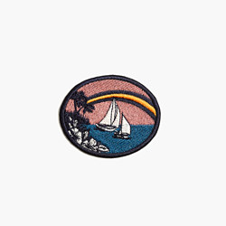 Embroidered Tropical Souvenir Sticker Patch