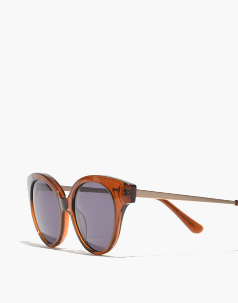 Athens Cat-Eye Sunglasses in transparent dark coffee image 2