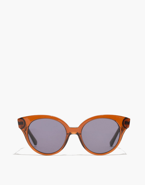 Athens Cat-Eye Sunglasses in transparent dark coffee image 1
