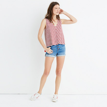 Chevron Stripe Swingy Tank Top