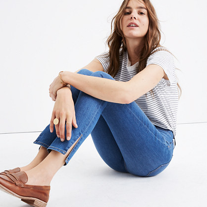 "Taller 9"" High-Rise Skinny Jeans in Bonita Wash: Side-Slit Edition"